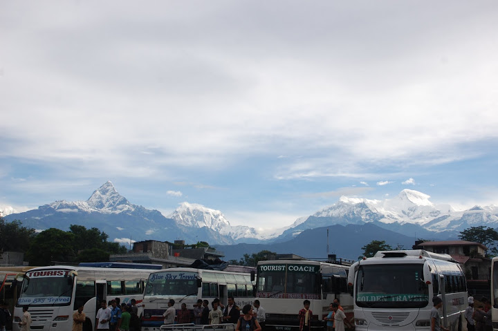 Pokhara's bus terminal
