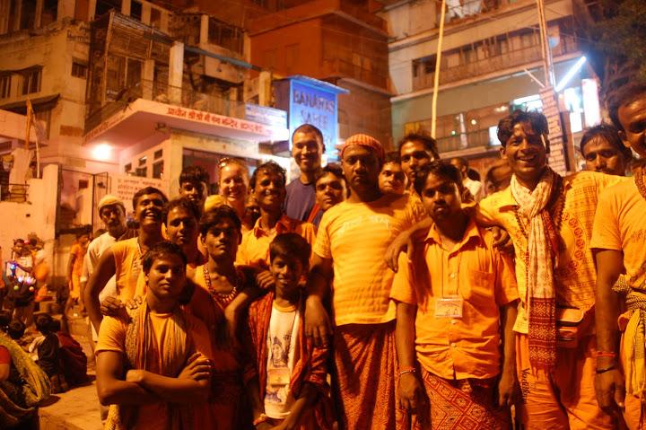 India - Varanasi - Me with some Shiva Pilgrims