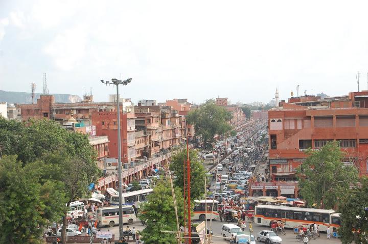 India - Jaipur - Busy Street
