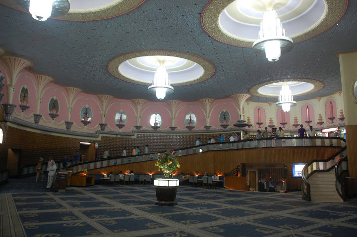 Inside the Raj Mandir Theatre. Like stepping back in time!