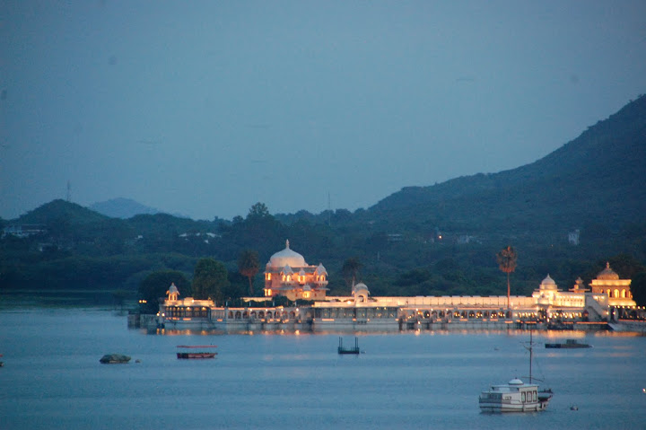 India - Udaipur - Lake Palace at Night