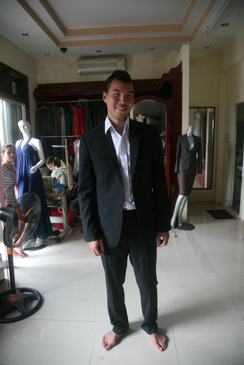 My custom tailored suit. Haven't worn one in months!