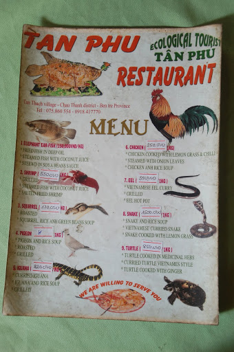 "This menu doesn't seem all that ""eco"" to me."