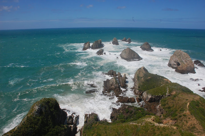 New Zealand - Nugget Point - Sea and Rocks