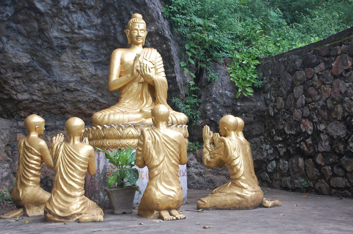 Laos - Luang Prabang - Gold Buddha Statue