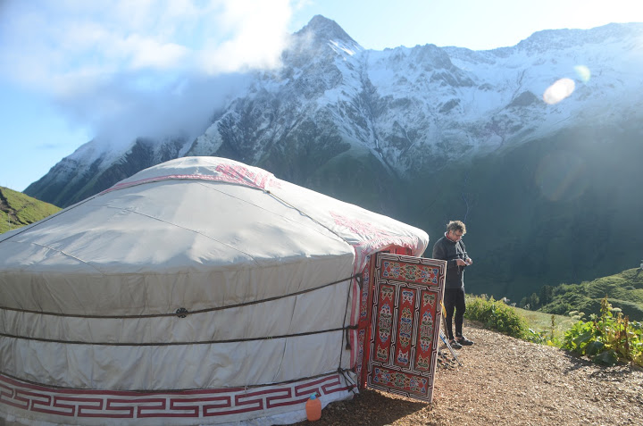A yurt at La Peule