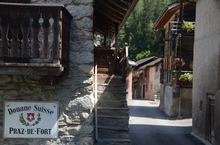 The idyllic Swiss town of Praz de Fort