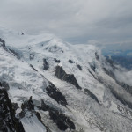 The View from Aiguille du Midi at 3842m