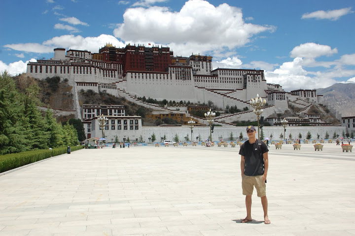 Tibet - Lhasa - Me and the Potala Palace