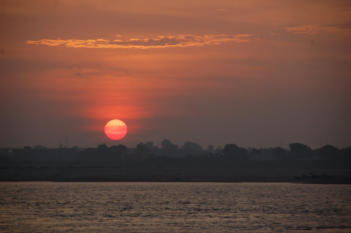 Sunrise over the River Ganges, Varanasi, India