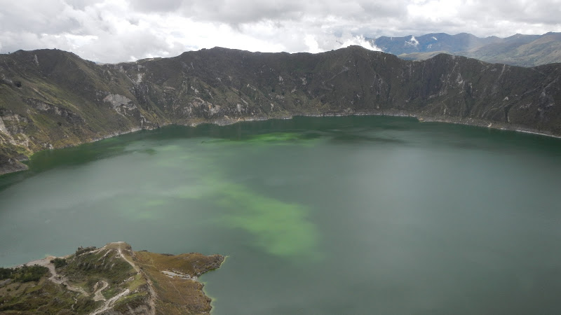 The crater lake in Quilotoa