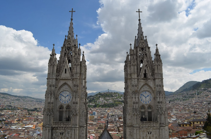 Ecuador - Quito - Basilica Clocktowers
