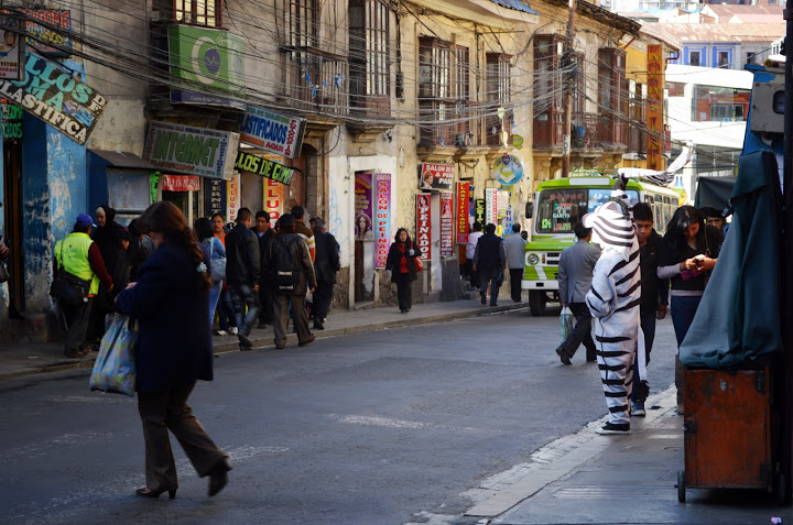 Bolivia - La Paz - Zebra Crossing Guard