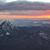 Sunrise at 6088 metres