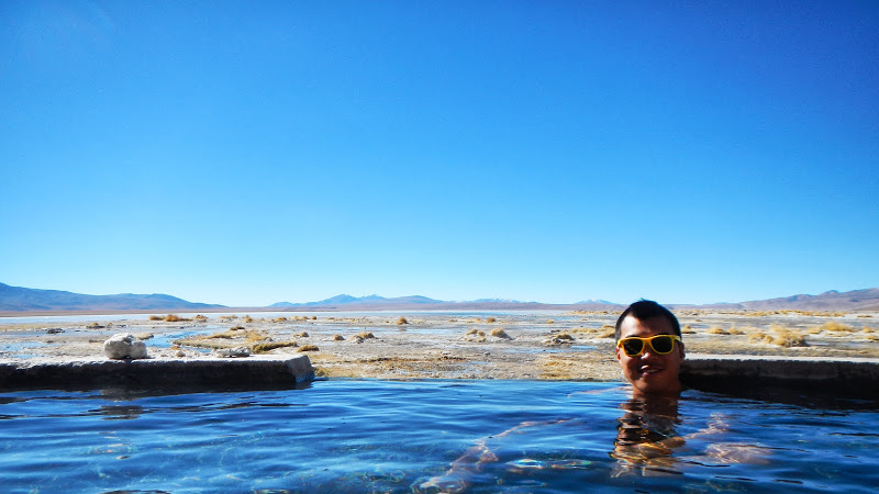 Geothermal Pool. A very welcome respite from cold!