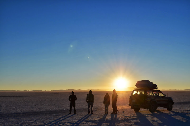 Sunrise on the Salt Flat