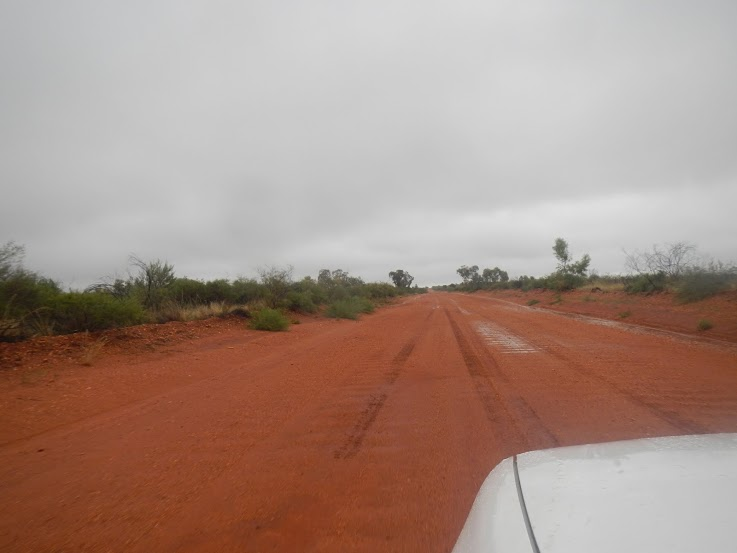 A typical red dirt road in the Outback