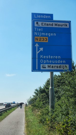 Finally seeing signs for Nijmegen!