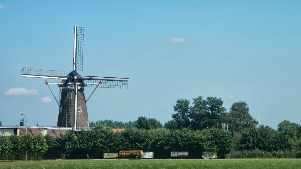 A traditional Dutch windmill
