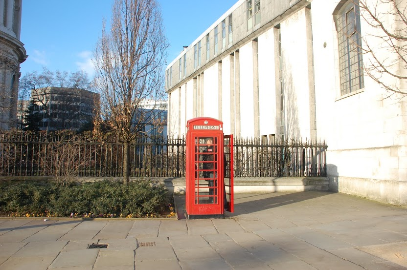 The ubiquitous London phone booth