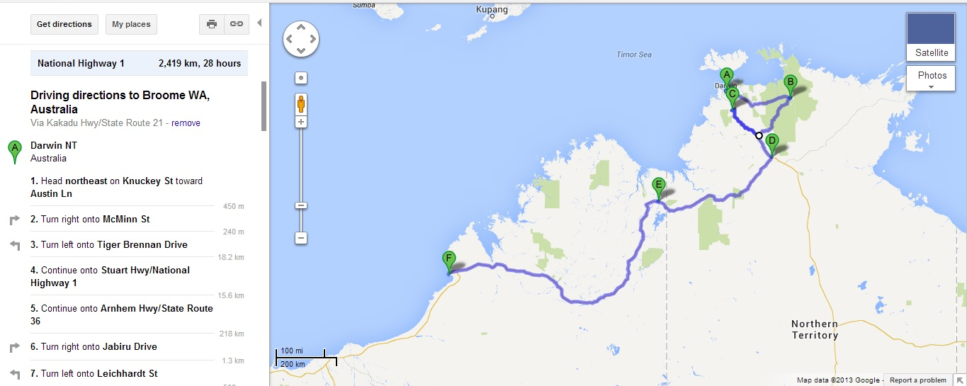 Australia - Darwin to Broome