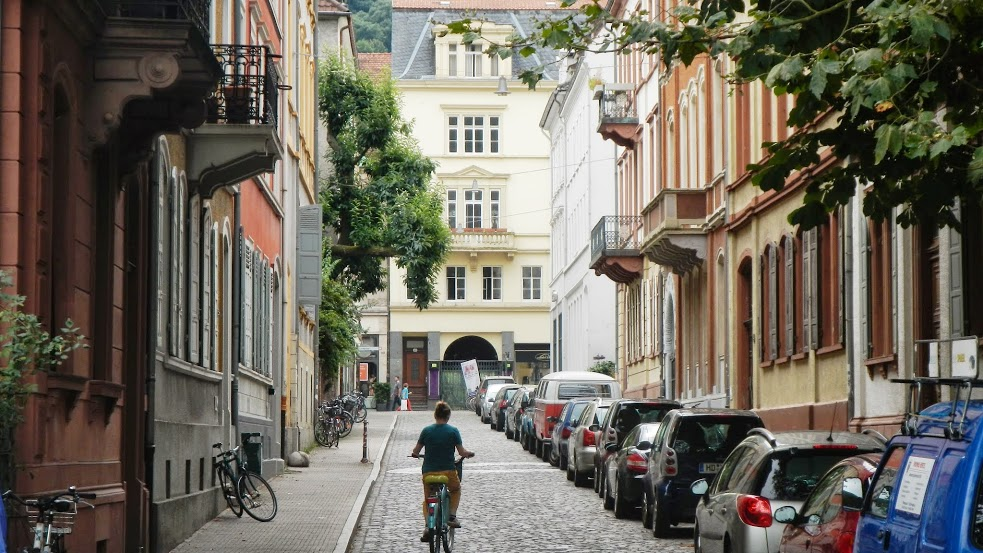 The best way to get around Heidelberg is on a bicycle.