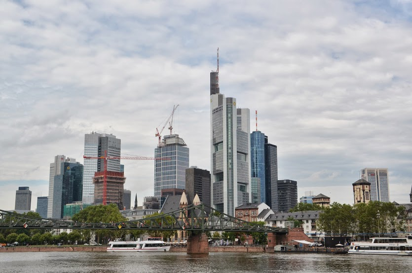 The Frankfurt city skyline