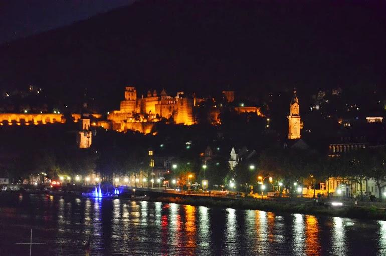 The River Neckar after dusk