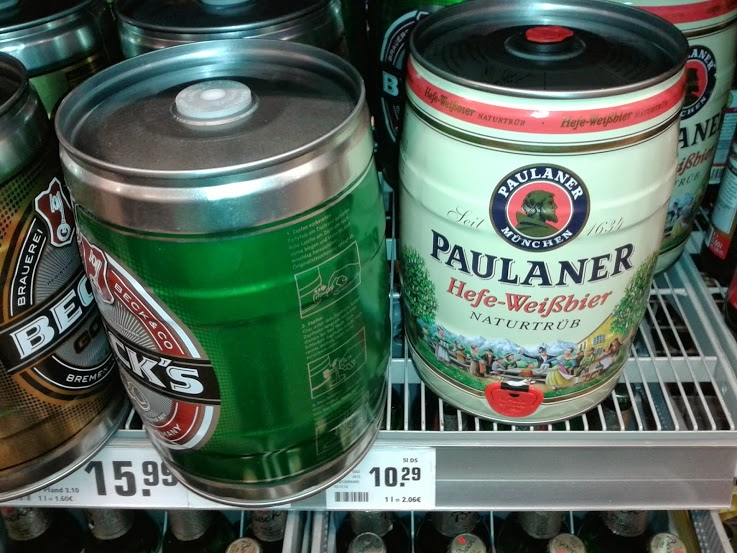 Germany - Beer Keg in Supermarket