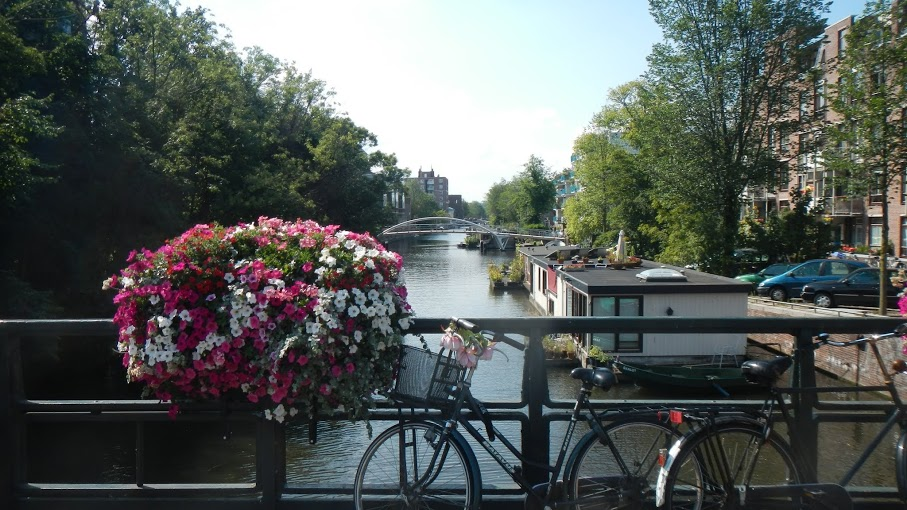 Netherlands - Amsterdam - Flowers, Bicycle, Canal