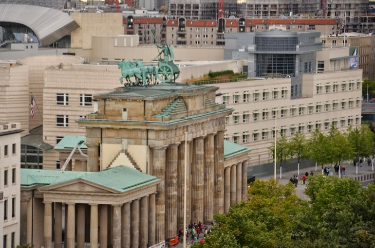 The Brandenburg Gate, from atop the Reichstag
