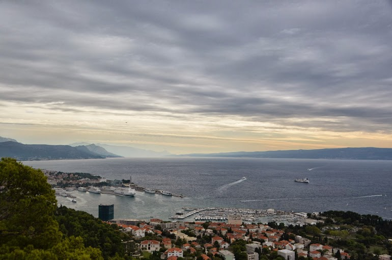 The city and the Adriatic sea.