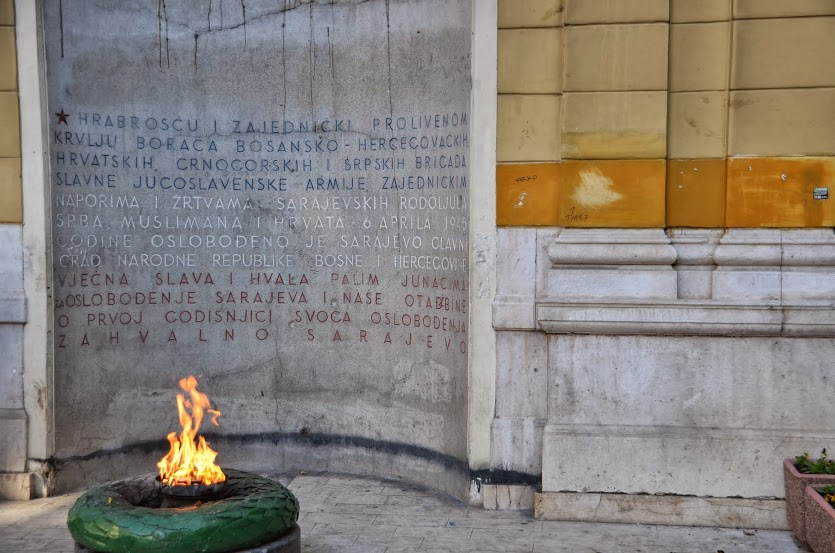 The Eternal Flame, a memorial for WWII