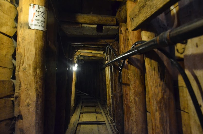 The Tunnel of Hope: 1.6m high, 1m wide, 800m long.