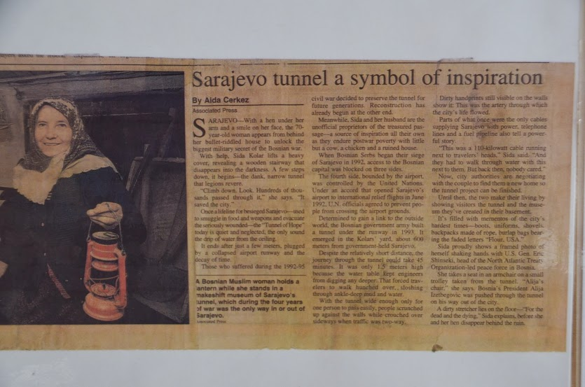 An AP news clipping proudly displayed in the museum.