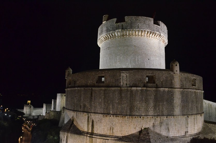 The massive battlement on the east side of the city wall.