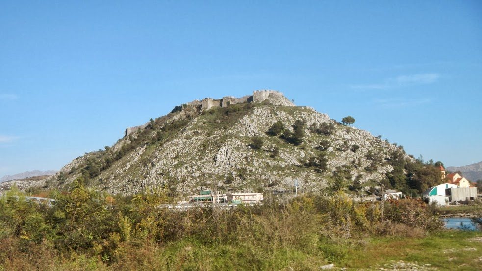 The hilltop fortress in Shkodra