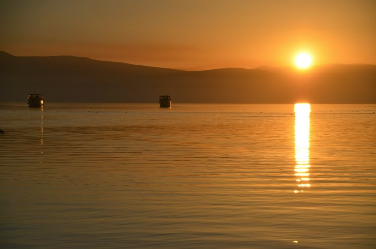 Awesome sunsets are the norm in Ohrid.