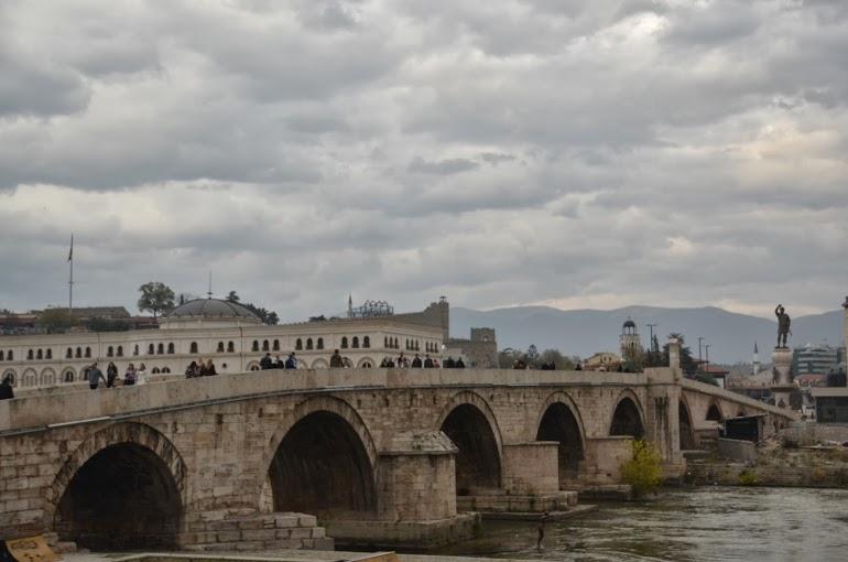 The old stone bridge.