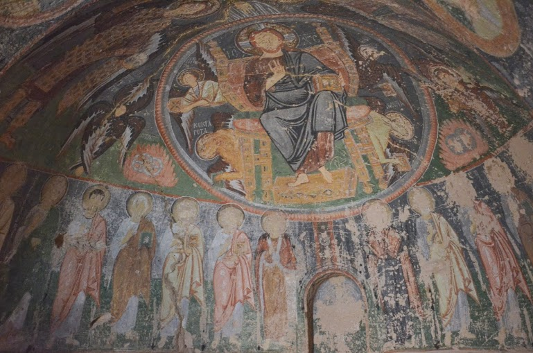 The mosaic inside Hacli Church