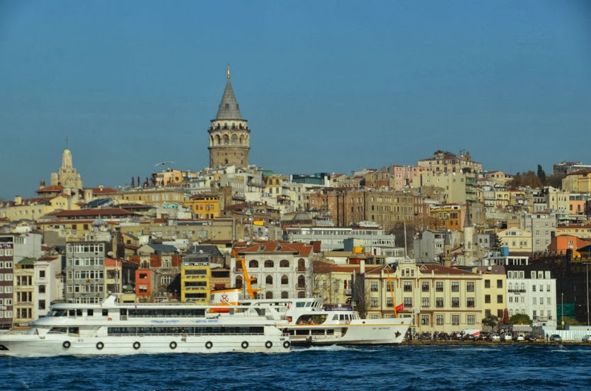 Galata Tower soars above its neighbours.