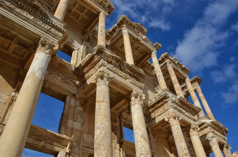 The Library of Celsus' facade