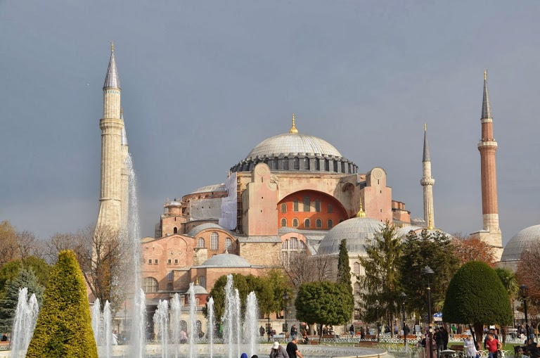 The grandiose Hagia Sofia