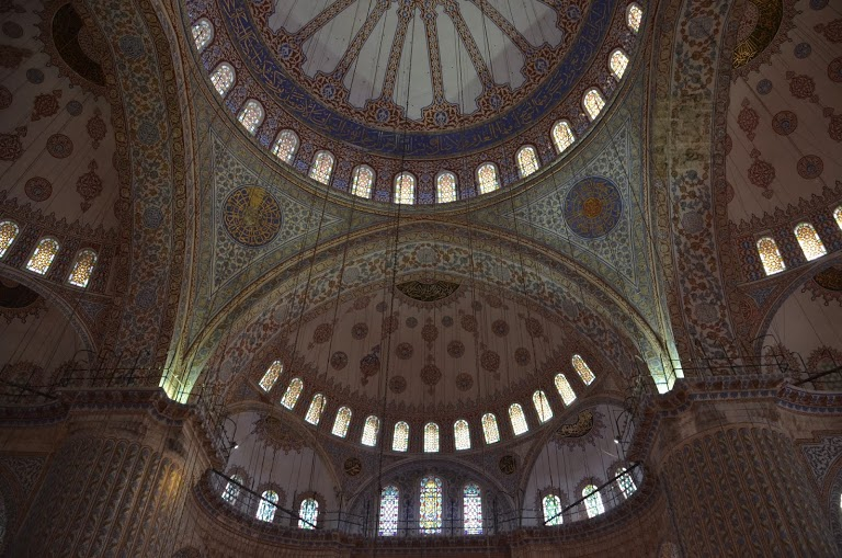The exquisite domed ceiling.