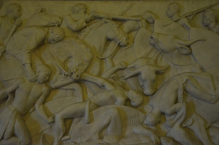 One section of the massive frieze on the main level