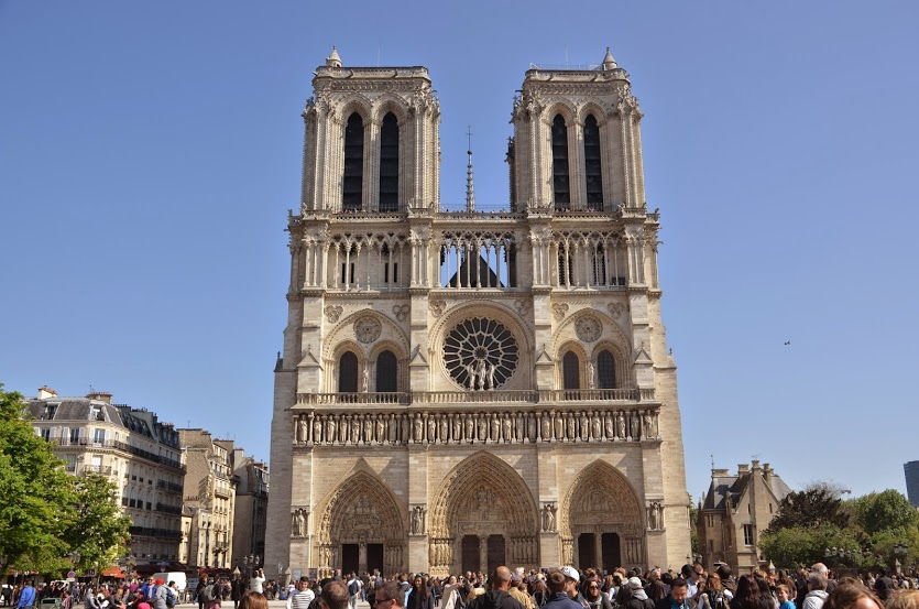 The world famous Notre Dame Cathedral