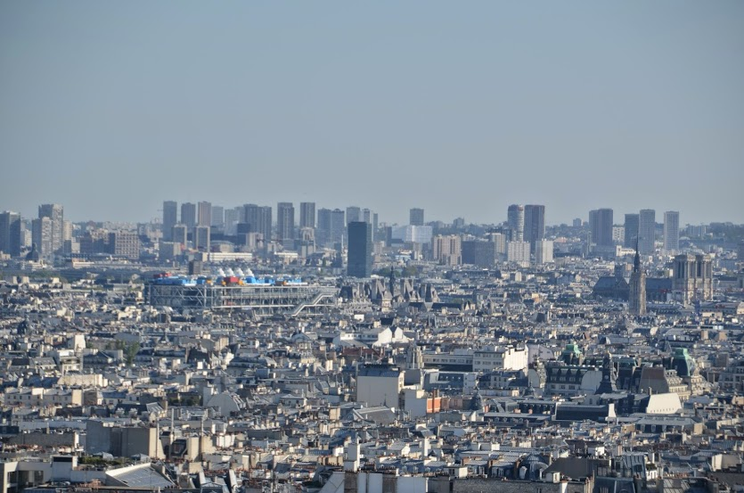 The impressive view from the Sacre Coeur