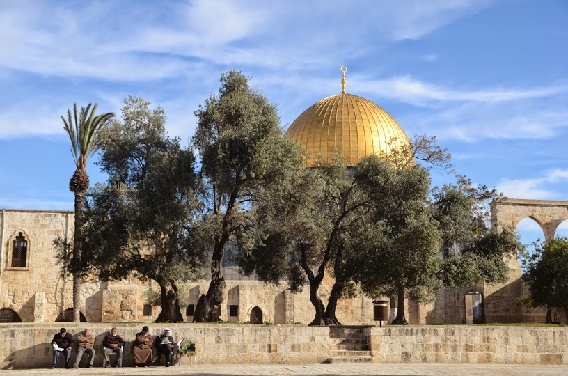 A peaceful morning at the Temple Mount