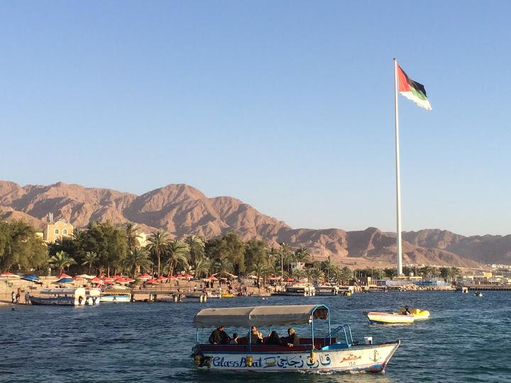 The 130 metre tall Aqaba Flagpole